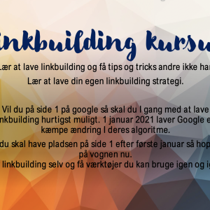 Linkbuilding kursus - strategi og tips
