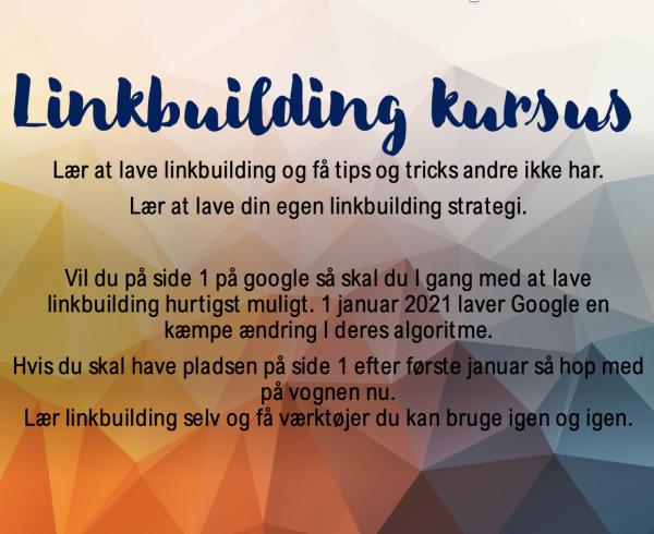 Linkbuilding kursus - strategi og tips